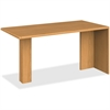 "HON 10700 Series Prestigious Laminate Furniture - 60"" x 30"" x 29.5"" - Waterfall Edge - Material: Hardwood - Finish: Harvest, Laminate"