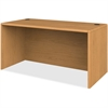 "Desk Shell - 60"" x 30"" x 29.5"" - Waterfall Edge - Material: Hardwood, Particleboard - Finish: Harvest, Laminate"