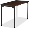 "Iceberg Maxx Legroom Wood Folding Table - Rectangle Top - Four Leg Base - 4 Legs - 24"" Table Top Width x 48"" Table Top Depth x 0.75"" Table Top Thickness - 29"" Height - Walnut"