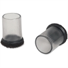 Lorell Clear Sleeve Floor Savers - Clear - 8/Pack