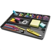 "Deflect-o Plastic Desk Drawer Organizer - 1"" Height x 14"" Width x 9"" Depth - Recycled - Black - 1Each"