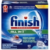 Finish Dishwash Tab - Tablet - 43.20 oz (2.70 lb) - Fresh Scent - 60 / Pack - White, Blue, Red