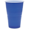 Genuine Joe Plastic Party Cup - 16 fl oz - 50 / Pack - Blue, White - Plastic - Party, Cold Drink