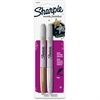 Sharpie Metallic Fine Point Permanent Marker - Fine Point Type - Gold, Silver Alcohol Based Ink - 2 / Set