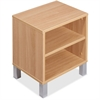 "Lorell Concordia Series Latte Laminate Desk Ensemble - 16.9"" x 12.6"" x 17.8"" - Latte - Laminate - Assembly Required"