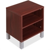 """Lorell Concordia Series Mahogany Laminate Desk Ensemble - 16.1"""" x 12.6"""" x 17.8"""" - Mahogany - Mahogany Laminate - Assembly Required"""