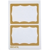 "Baumgartens Self-adhesive Visitor Badge - Removable Adhesive - 3.50"" Width x 2.25"" Length - Rectangle - Gold - 100 / Box"