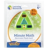 Learning Resources Minute Math Electronic Flash Card - Skill Learning: Equation Solving, Visual Processing, Audio Feedback, Addition, Subtraction, Multiplication, Division, Number, Mathematics, Algebr