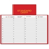"At-A-Glance Standard Diary Daily Appointment Book - Julian - Daily - 1 Year - January 2017 till December 2017 - 8:00 AM to 7:30 PM - 1 Day Single Page Layout - 7.50"" x 9.44"" - Book Bound - Red - Moire"