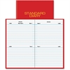"Standard Diary Daily Diary - Personal - Julian - Daily - 1 Year - January 2017 till December 2017 - 2 Day Single Page Layout - 2.75"" x 4.63"" - Book Bound - Red - Reminder Section"