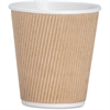 Genuine Joe Ripple Hot Cup - 10 oz - 500 / Carton - Brown - Hot Drink