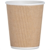 Genuine Joe Ripple Hot Cups - 8 oz - 25 / Pack - Brown - Hot Drink