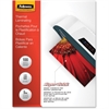 "Fellowes Glossy SuperQuick Pouches - Letter, 5 mil, 100 pack - Sheet Size Supported: Letter - Laminating Pouch/Sheet Size: 9"" Width x 11"" Length x 5 mil Thickness - Type G - Glossy - for Document - Du"