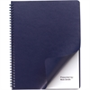 "Swingline® GBC® Regency® Premium Presentation Covers - Letter - 8 1/2"" x 11"" Sheet Size - 200 Sheet Capacity - Faux Leather - Navy - 200 / Box"