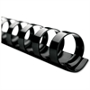 "Swingline CombBind Binding Spines - 0.25"" Maximum Capacity - 25 x Sheet Capacity - For Letter 8.50"" x 11"" Sheet - 19 x Rings - Black - Plastic - 100 / Box"
