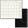 "At-A-Glance Two-Page-Per-Month Monthly Planner - Julian - Monthly - 1 Year - 2 Month Double Page Layout - 7.50"" x 10"" - Bungee Strap - Black - Pocket, Page Marker, Reminder Section, Notes Area"