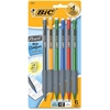 BIC Matic Grip Mechanical Pencil - #2 Lead Degree (Hardness) - 0.5 mm Lead Diameter - Black Lead - Black, Gray Barrel - 6 / Pack