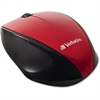 Verbatim Wireless Notebook Multi-Trac Blue LED Mouse - Red - Blue Optical - Wireless - Radio Frequency - Red - USB 2.0 - Scroll Wheel - 2 Button(s)
