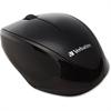 Verbatim Wireless Notebook Multi-Trac Blue LED Mouse - Black - Blue Optical - Wireless - Radio Frequency - Black - USB 2.0 - Scroll Wheel - 2 Button(s)