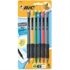 BIC Matic Clip/Grip Mechanical Pencil - #2 Lead Degree (Hardness) - 0.7 mm Lead Diameter - Black Lead - Assorted Barrel - 6 / Pack