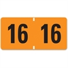 "ETYJ Color-Coded Year Labels - 1.50"" Width x 0.75"" Length - 500 / Roll - Rectangle - Orange - 500 / Roll"