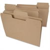 """Smead Tree Free SuperTab® File Folders - Letter - 8 1/2"""" x 11"""" Sheet Size - 1/3 Tab Cut - Assorted Position Tab Location - Brown - Recycled - 24 / Pack"""