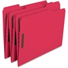 "Smead 100% Recycled Colored Fastener Folders - Letter - 8 1/2"" x 11"" Sheet Size - 2 Fastener(s) - 1/3 Tab Cut - Assorted Position Tab Location - 11 pt. Folder Thickness - Red - Recycled - 50 / Box"