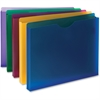 "Smead Poly File Jackets - 1"" Folder Capacity - Letter - 8 1/2"" x 11"" Sheet Size - 1"" Expansion - Translucent Poly - Assorted - 10 / Pack"