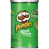 Pringles Onion Grab/Go Potato Crisps - Sour Cream, Onion - Can - 1 Serving Can - 2.50 oz - 12 / Carton