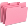"Smead SuperTab® File Folder - Letter - 8 1/2"" x 11"" Sheet Size - 1/3 Tab Cut - Assorted Position Tab Location - Pink - Recycled - 6 / Pack"