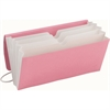 Smead TagAlong® Organizer - 5 Pocket(s) - Pink, White - Recycled - 1 Each