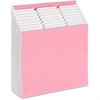 Smead Stadium® File - 9 Pocket(s) - Card Stock - Pink, White - Recycled - 1 Each