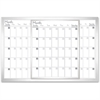 "Lorell Magnetic Dry-Erase Calendar Board - 36"" (3 ft) Width x 24"" (2 ft) Height - Frost Surface - Rectangle - Mount - Assembly Required - 1 Each"