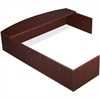 "Lorell Essentials Series L-Shaped Reception Counter - 76.8"" Width x 66.1"" Depth x 14.8"" Height x 1"" Thickness - Wood, Laminate - Mahogany"