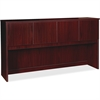 "Lorell Prominence 79000 Series Mahogany Hutch - 72"" x 16"" x 39"" - Drawer(s)4 Door(s) - Material: Particleboard - Finish: Laminate, Mahogany, Melamine"