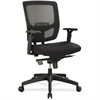 "Lorell Executive Mesh Adjustable-height Mid-back Chair - Black Seat - Black Back - 5-star Base - Black - 28"" Width x 26.5"" Depth x 42.5"" Height"