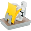 "Post-it Pop-up Notes Karate Dispenser for 3 in x 3 in Notes - 3"" x 3"" - Holds 100 Notes - White"