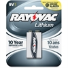Rayovac Multipurpose Battery - 1200 mAh - Lithium (Li) - 9 V DC - 1 Each
