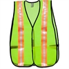 MCR Safety Occunomix General Purpose Safety Vest - Visibility Protection - Mesh - Lime - 1 Each