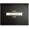 St. James Regent Certificate Holders with Window, Black - Linen - 5 / Pack - Black, Gold