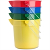 Genuine Joe 4-Pack 10 qt. Utility Buckets - 10 quart - Steel - Blue, Red, Yellow, Green