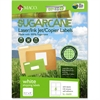 "MACO Laser / Ink Jet / Copier Sugarcane Shipping Labels - Permanent Adhesive - 3.33"" Width x 4"" Length - 6 / Sheet - Rectangle - Inkjet, Laser - White - 600 / Box"