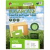 "MACO Laser / Ink Jet File / Copier Sugarcane Address Labels - Permanent Adhesive - 1"" Width x 2.63"" Length - 30 / Sheet - Rectangle - Inkjet, Laser - White - 750 / Pack"
