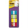 "Post-it 1"" Solid Color Self-stick Tabs - 88 Write-on Tab(s) - 1.50"" Tab Height x 1"" Tab Width - Aqua, Yellow, Lime, Red Tab(s) - 88 / Pack"