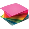 "TOPS Neon Twirl Memo Pads - 400 Sheets - Plain - Glue - 15 lb Basis Weight - 3"" x 3"" - Assorted Paper - 400 / Each"