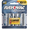 Rayovac 815-6HEF Mercury Free High Energy Alkaline Batteries, AA 6 Pk - AA - Alkaline - 1.5 V DC - 6 / Pack