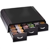 """Mind Reader 36-Capacity Single-serve Cup Organizer Anchor - 36 x Coffee Pod - 3 Drawer(s) - 13.5"""" Height x 13.3"""" Width x 3.3"""" Depth - Counter - Black, Chrome Housing, Handle - 1Each"""