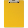 "OIC Low-profile Plastic Clipboard - 8.50"" x 11"" - Low-profile - Plastic - Yellow"