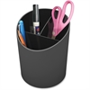 "Deflect-o Sustainable Office Large Pencil Cup 30% Recycled Content - 5.6"" x 4.4"" - 1 Each - Black"
