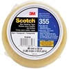 "Scotch 355 Box Sealing Tape - 1.88"" Width x 54.60 yd Length - 3"" Core - Synthetic Rubber Resin - Polyester Backing - Easy Unwind, Pressure Sensitive, Adhesive - 1 / Roll - Clear"